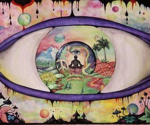 eye, art, and peace image