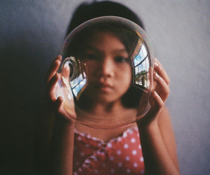 girl, bubbles, and photography image