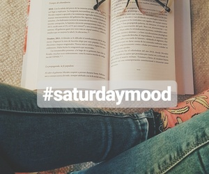 book, glasses, and saturday image