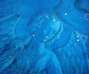 angel, blue, and colours image