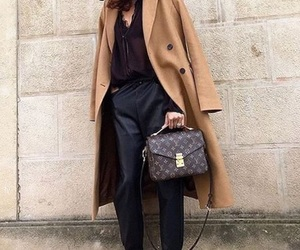 bags, coat, and style image