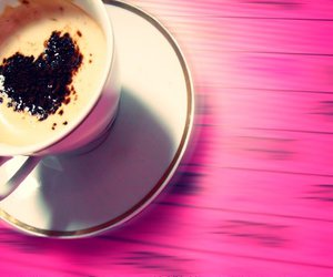 coffe, drunk, and pink image