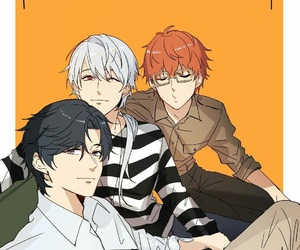zen, jumin, and mystic messenger image