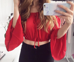 blouse, blusa, and Chica image