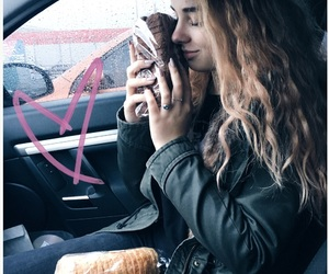 bread, car, and girl image