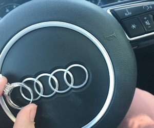 audi, car, and ring image