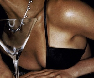 bra, champagne, and luxury image
