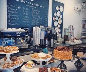 bakery, cafe, and chalkboard image
