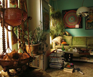hippie, room, and boho image
