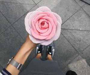 flowers, ice cream, and pink image