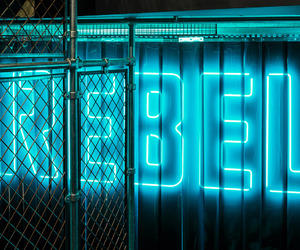 blue, neon, and rebel image