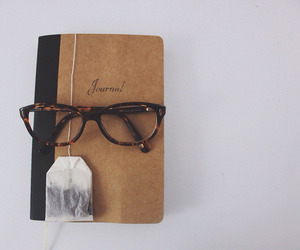 vintage, book, and glasses image