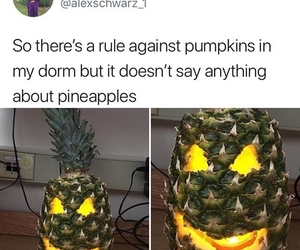 funny, Halloween, and pineapple image