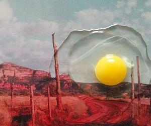 art, egg, and sun image