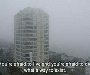 quotes, grunge, and afraid image