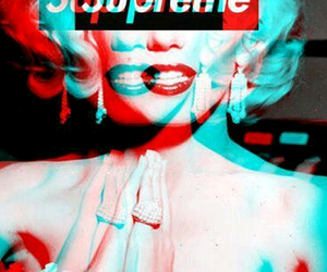 supreme, Marilyn Monroe, and wallpaper image