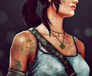 art, game, and lara croft image