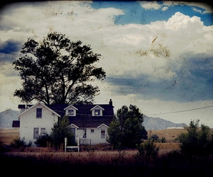 old photo, scary, and creepy house image