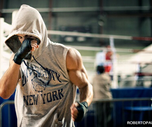 boy, gym, and boxing image