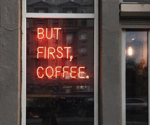 cafe, coffee, and neon image