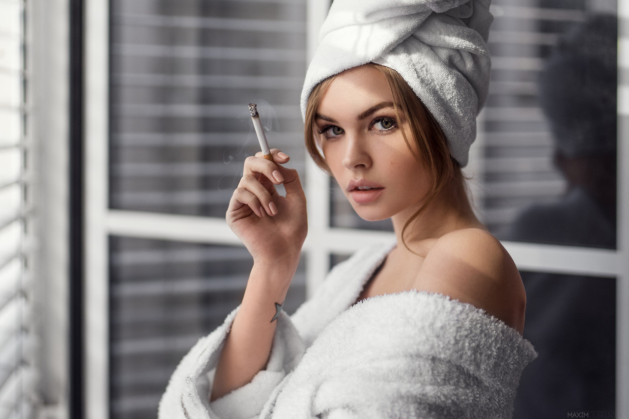 fashion, shower, and smoking image