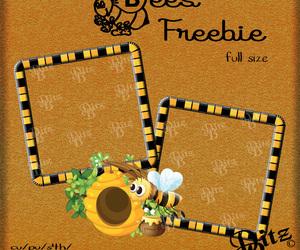 bees, digital scrapbook, and freebies image