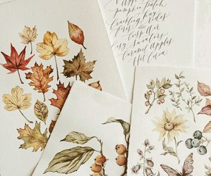 flowers, autumn, and drawing image