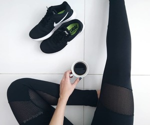 abs, adidas, and coffee image