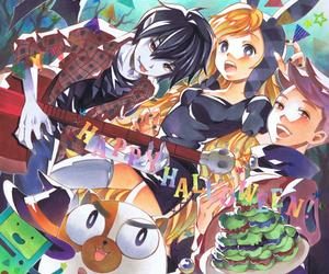 anime girl, adventure time, and marshall lee image