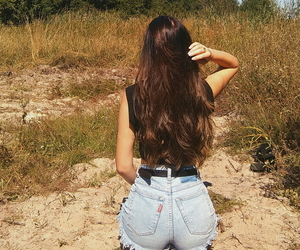 hair, long hair, and nature image