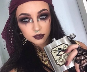 Halloween, makeup, and pirate image