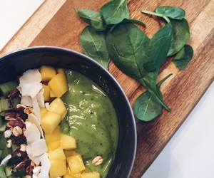 all green, apple, and breakfast image