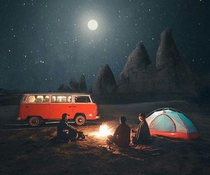 night, travel, and adventure image