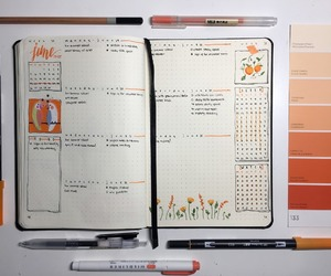 journaling, study, and bullet journal image