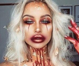 makeup, Halloween, and Queen image