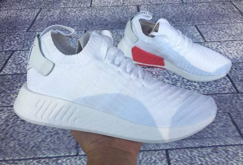 Adidas Originals Nmd R2 Pk White Red Sneakers