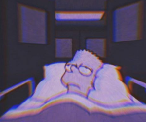aesthetic, dark, and simpsons image