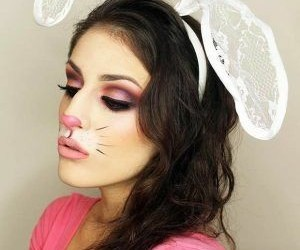 bunny, makeup, and contest image