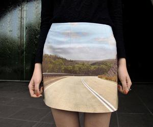 black, road, and girl image
