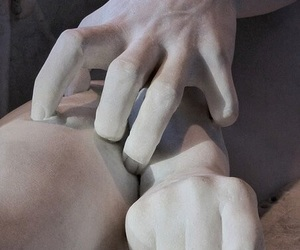 art, hands, and sculpture image