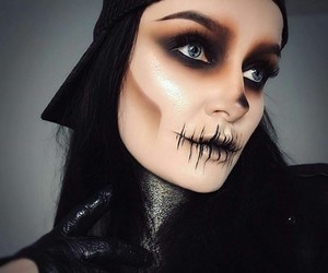 contest, Halloween, and makeup image
