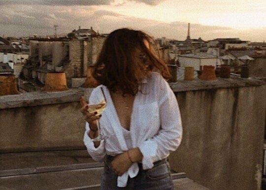 girl, wine, and paris image
