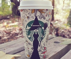 fall, witch, and starbucks image