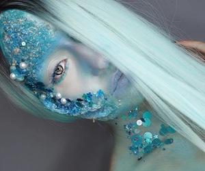 art, Halloween, and makeup image