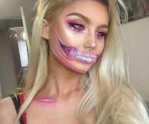 Halloween, halloween makeup, and makeup image
