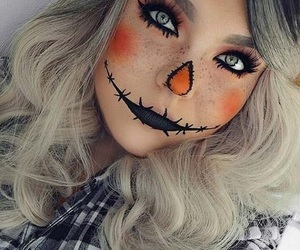 Halloween, makeup, and orange image