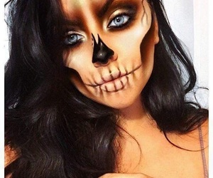 Halloween, makeup, and skull image