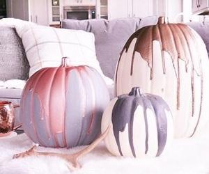 Halloween, indoors, and pumpkins image