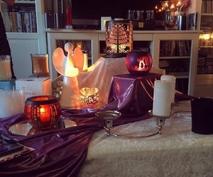 candle, decor, and lights image