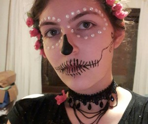 Halloween, makeup, and mexican skull image